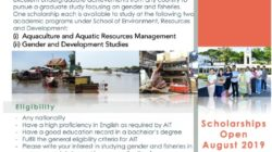 Gender and Fisheries scholarship at AIT