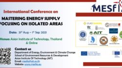 """International conference on """"Mastering Energy Supply focused on Isolated Areas':  August 31 – September 1, 2021, at AIT (online mode)."""